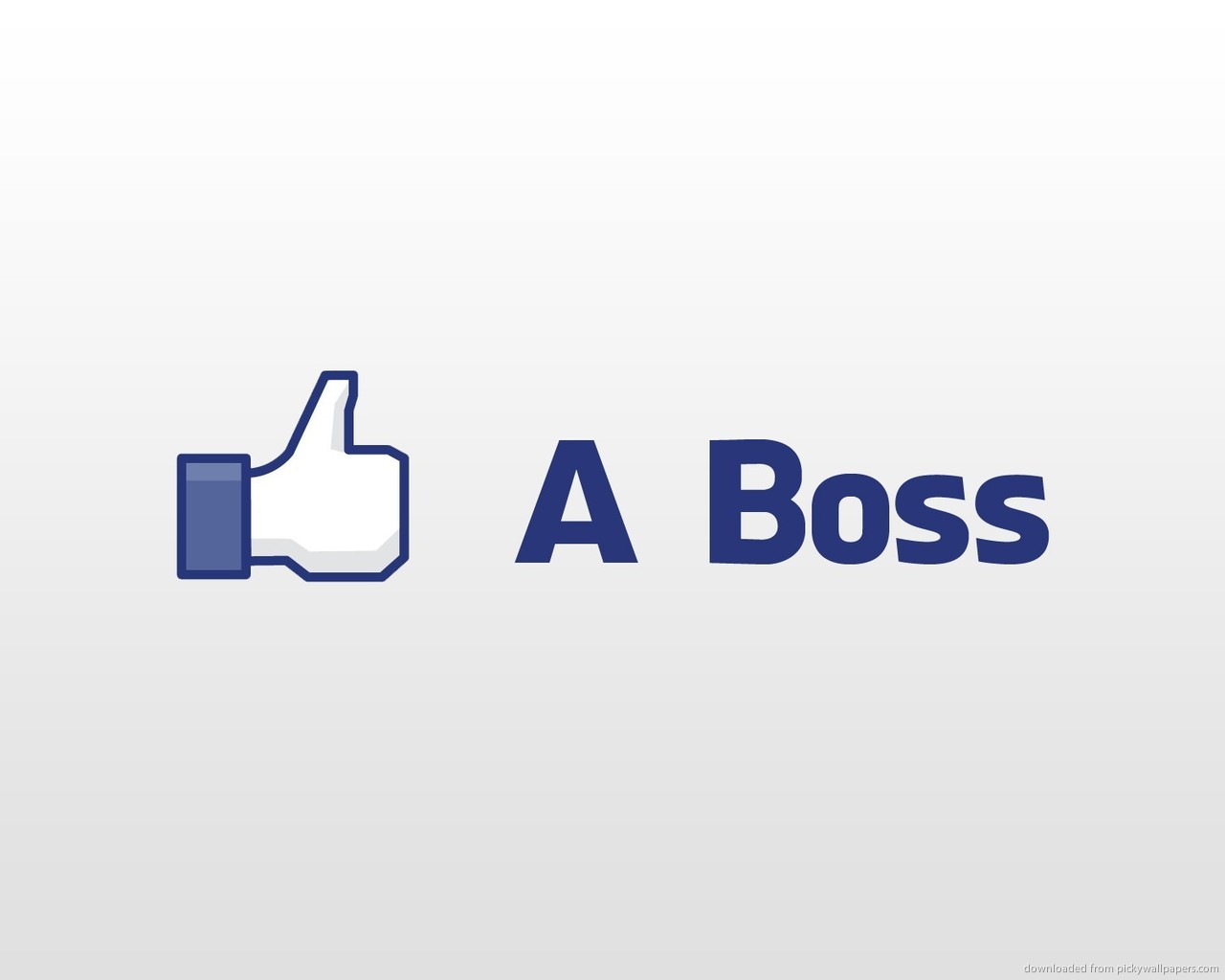 Like a BossLike A Boss Logo Wallpaper